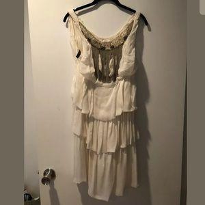 Alberta Ferretti Dress Off White Chain 42/ 6 New
